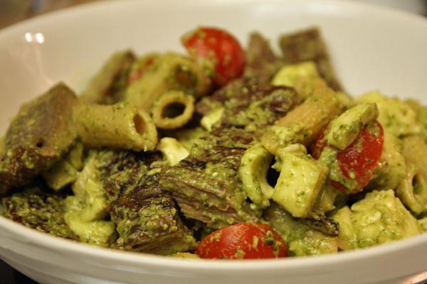 RECIPE: Whole wheat penne pasta with basil pesto, balsamic marinated ...